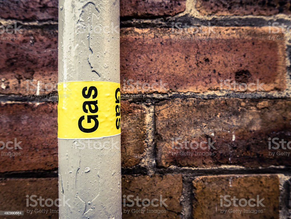 Gas Pipe stock photo