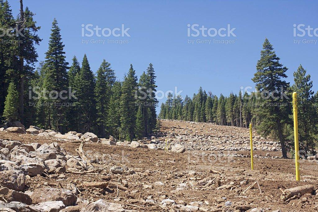 Gas Pipeline installation stock photo