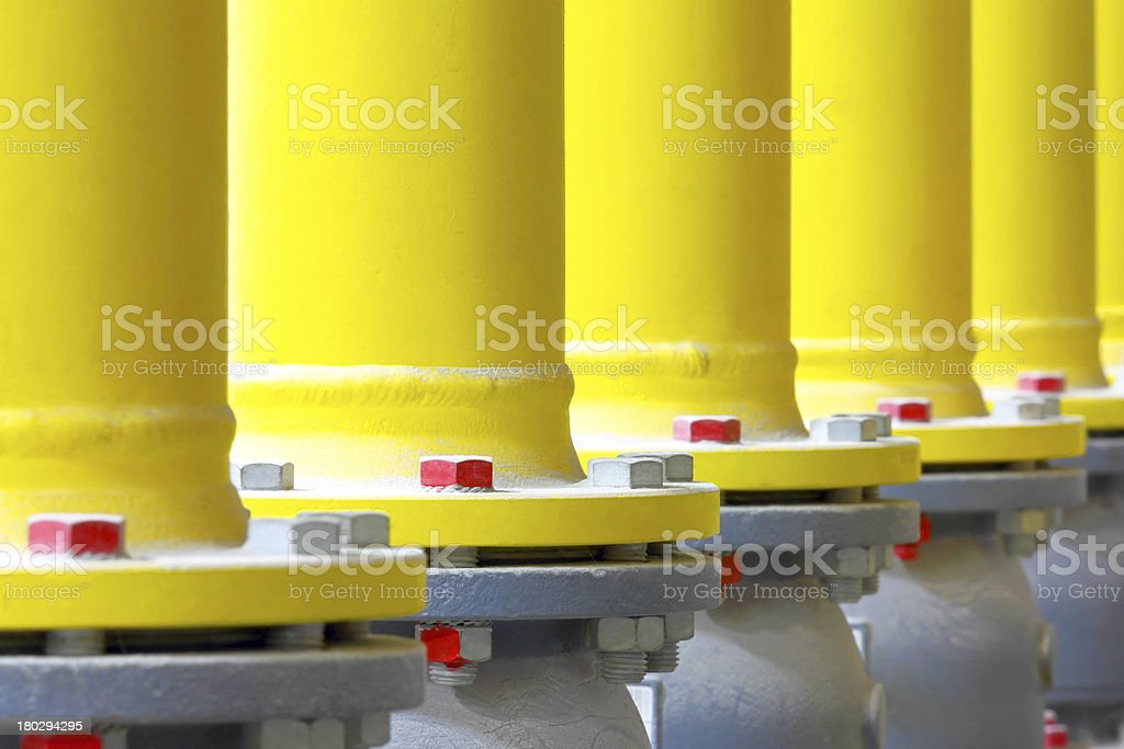 Gas pipeline royalty-free stock photo