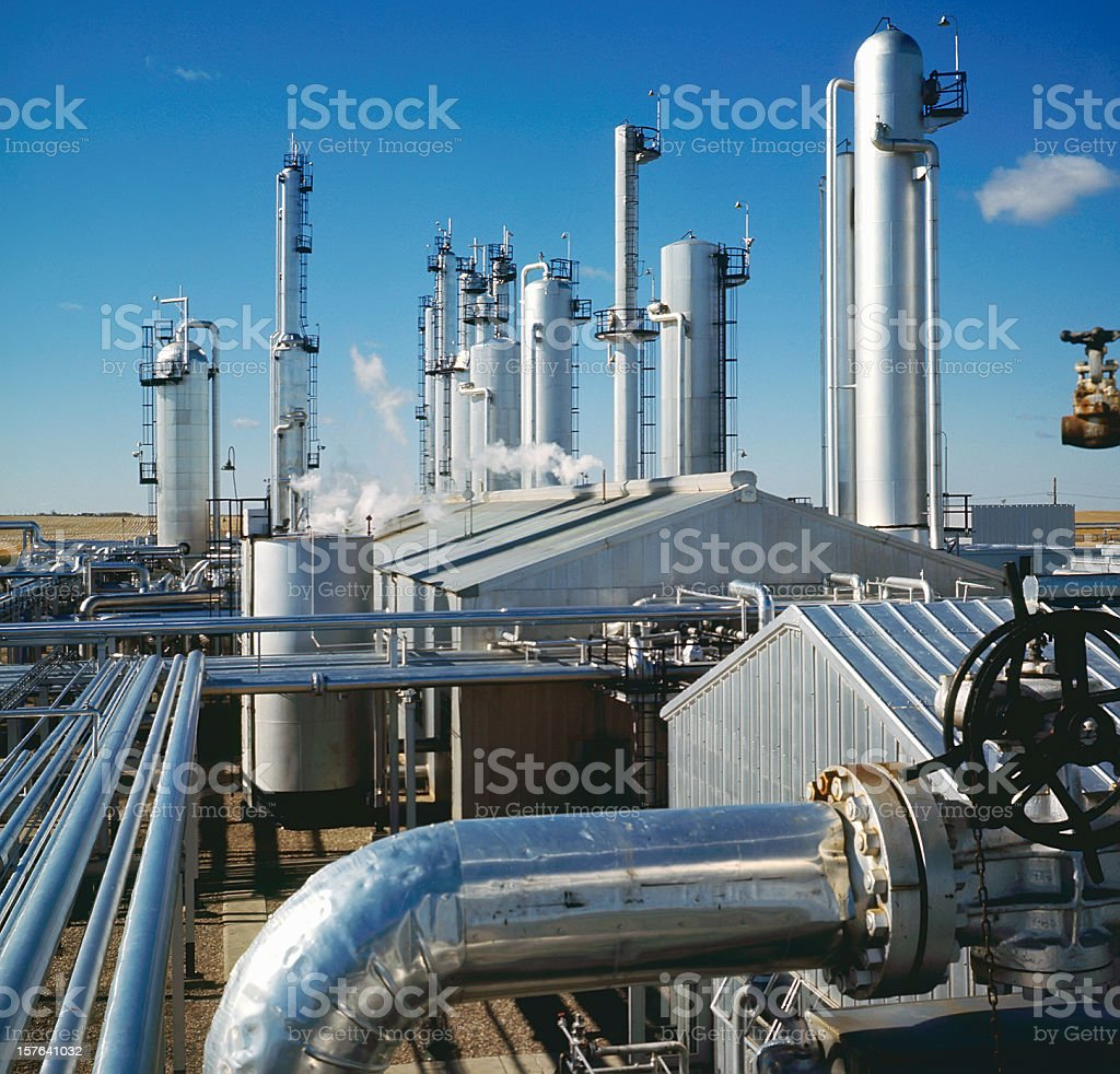 Gas Plant Detail royalty-free stock photo