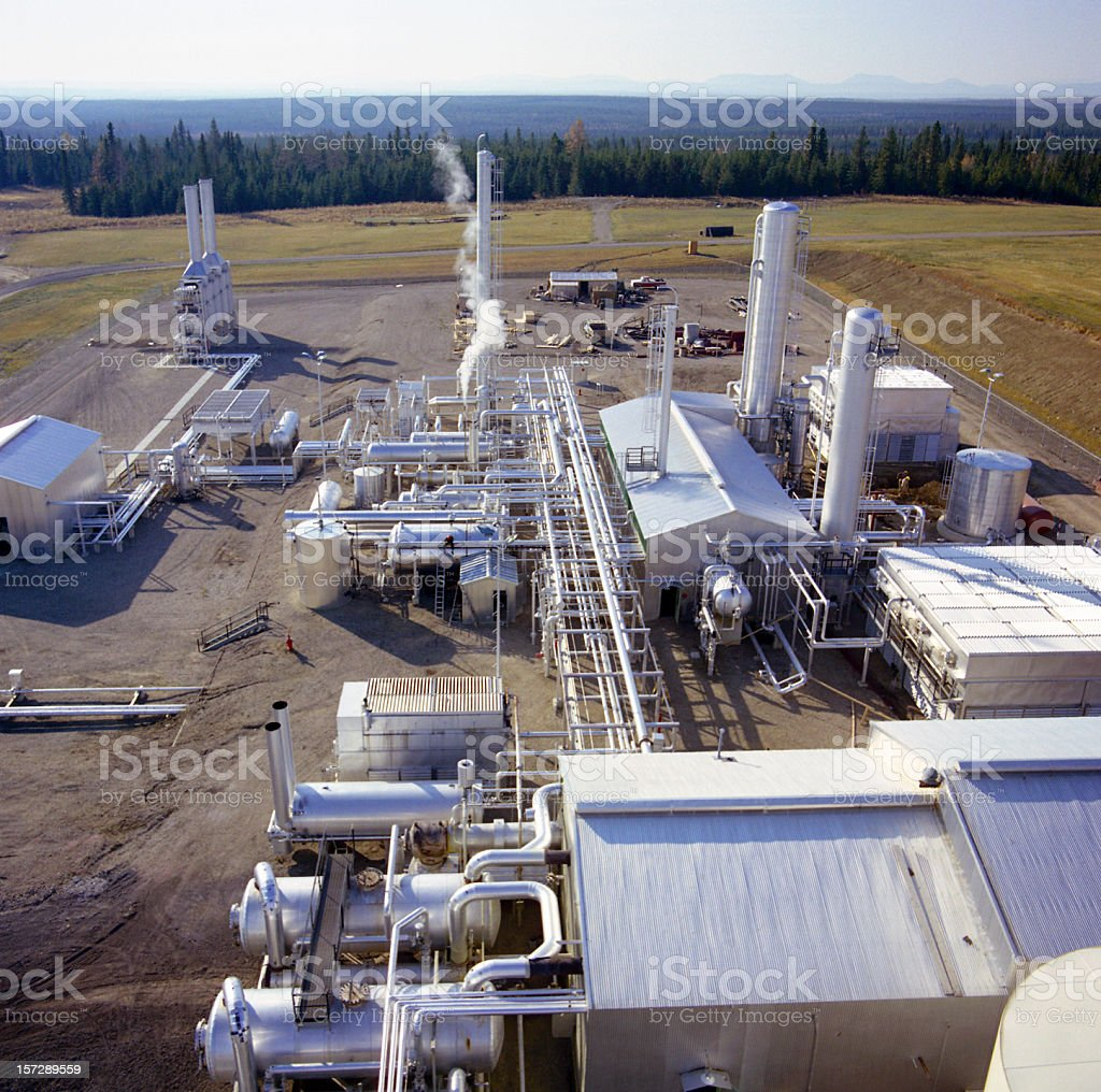 Gas Plant Looking Down royalty-free stock photo
