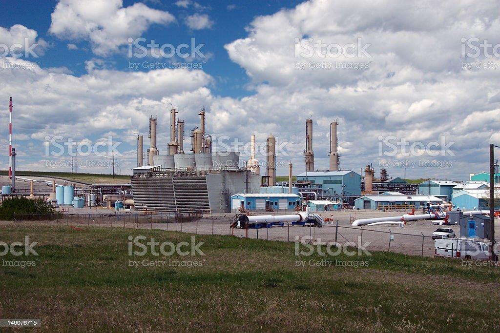 Gas plant stock photo