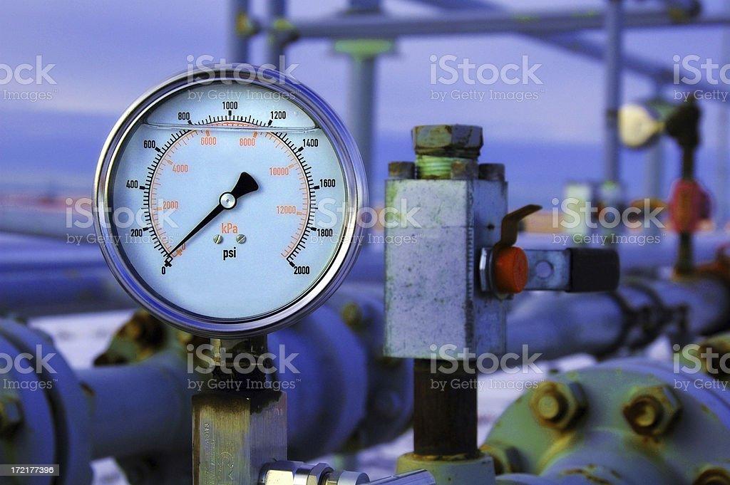 Gas Pressure Guage royalty-free stock photo