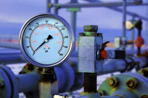Gas Pressure Guage Stock Photo - Download Image Now
