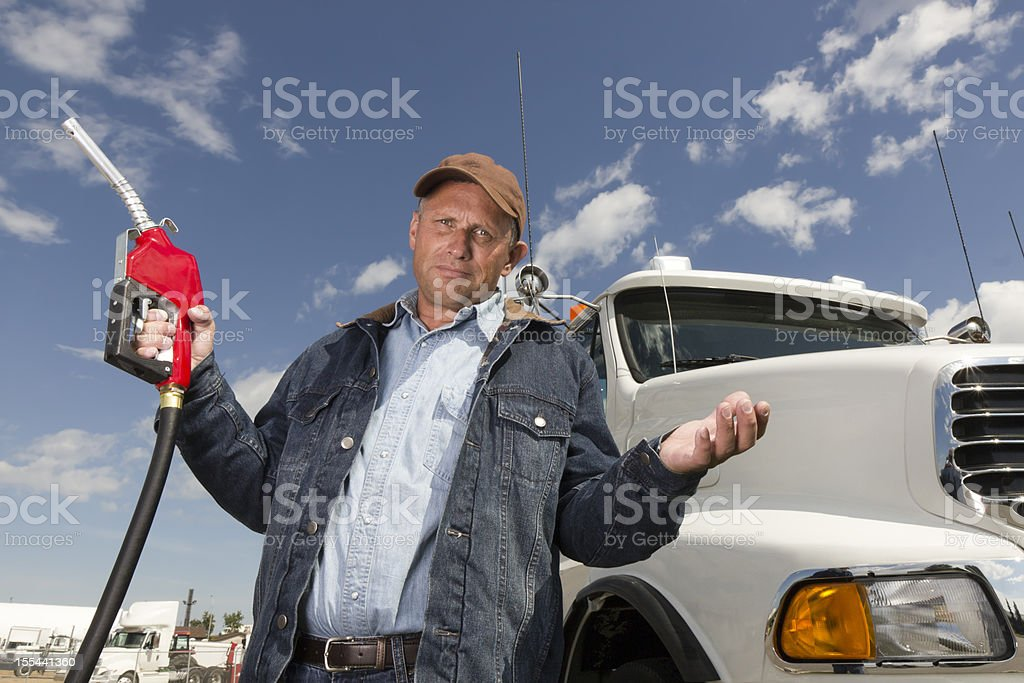Gas Price Frustration stock photo