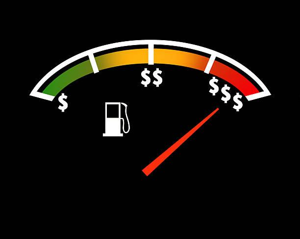 Gas Price Gauge stok fotoğrafı