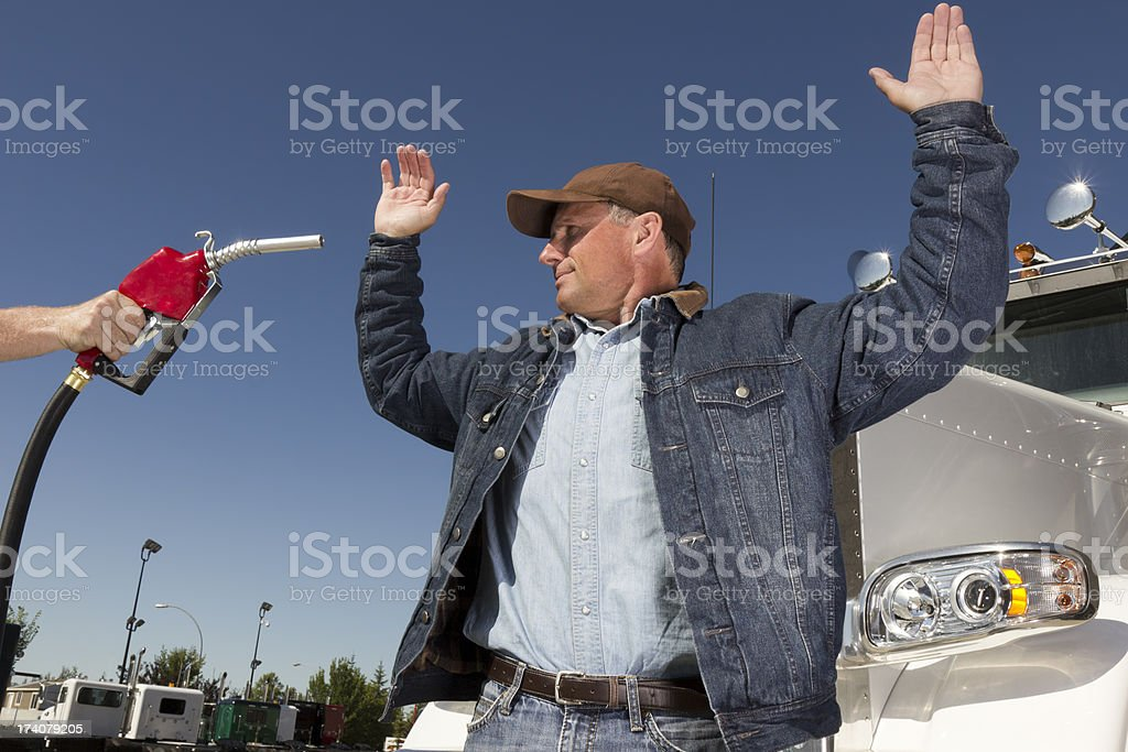 Gas Price Hostage stock photo