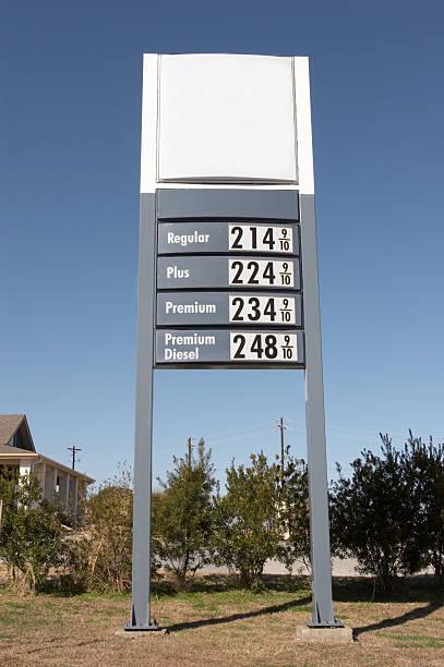 Gas Price Sign stock photo