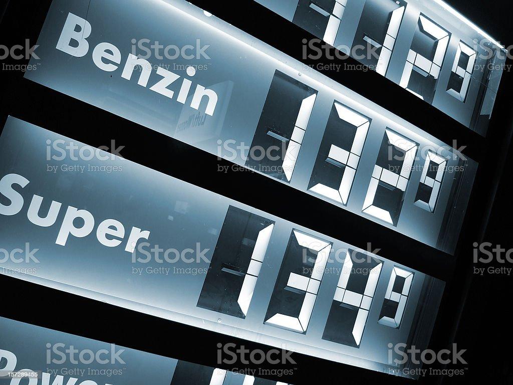 gas prices /  benzin preise royalty-free stock photo