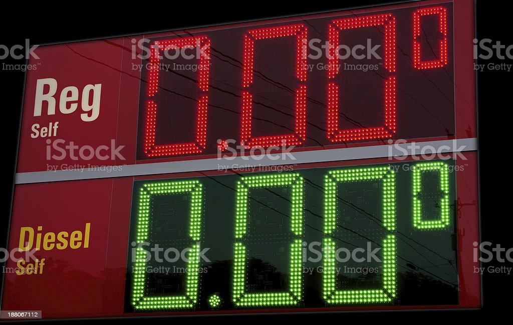 Gas Prices Falling! stock photo