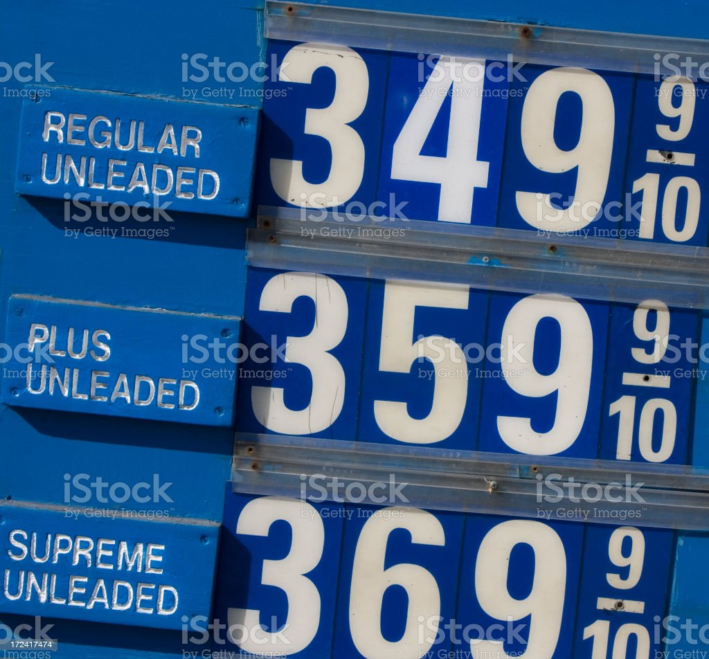 gas prices royalty-free stock photo