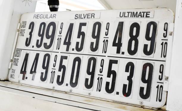 NYC Gas prices stock photo