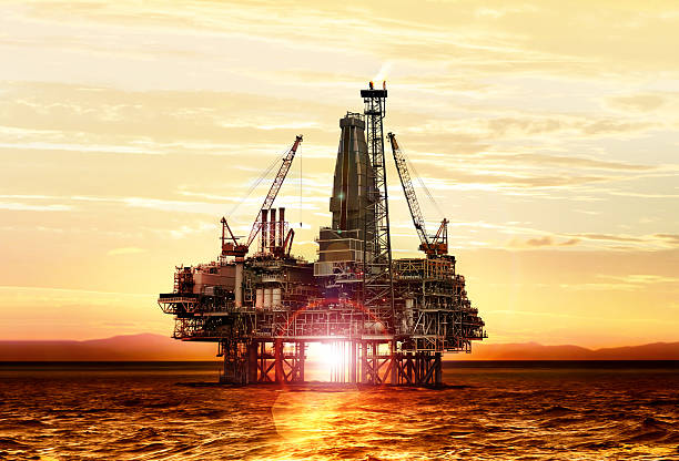 Gasproduktion auf das Meer – Foto
