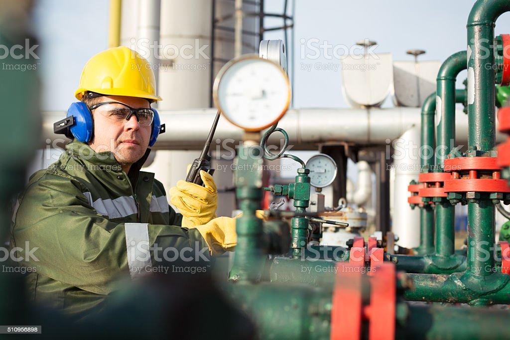 Gas Production Operator stock photo 510956898 | iStock