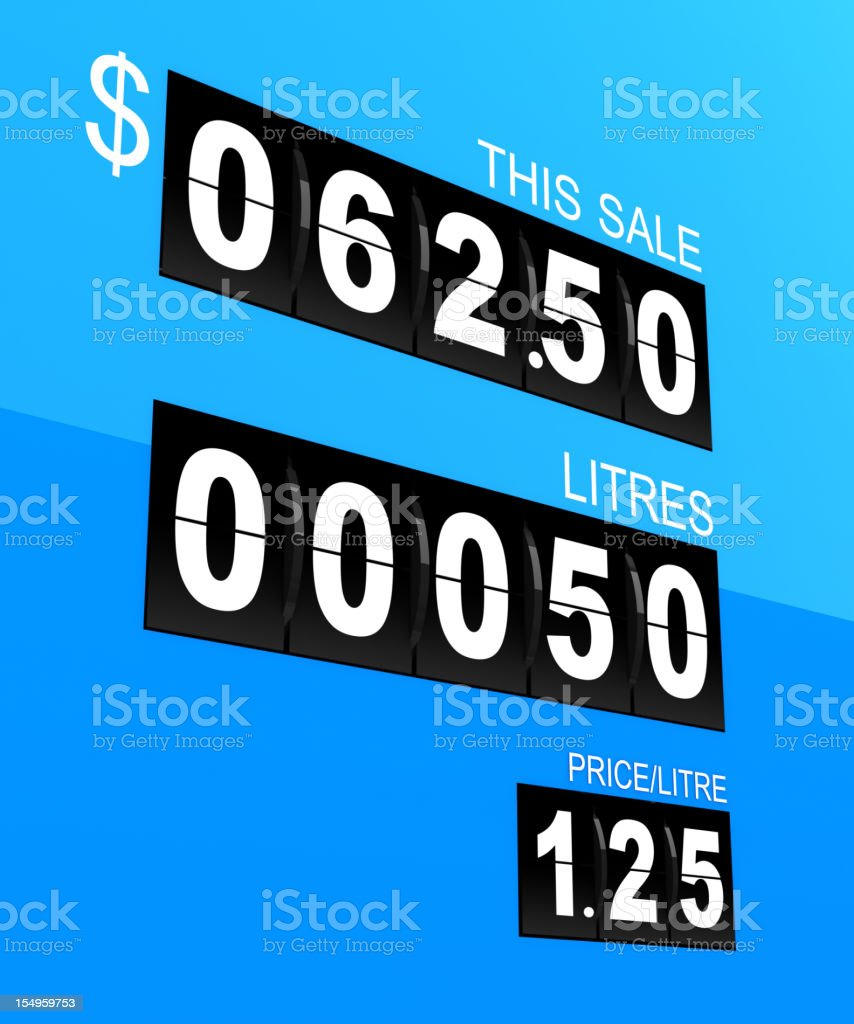 Gas Pump Display stock photo