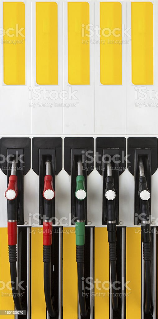 Gas pump filler handle royalty-free stock photo