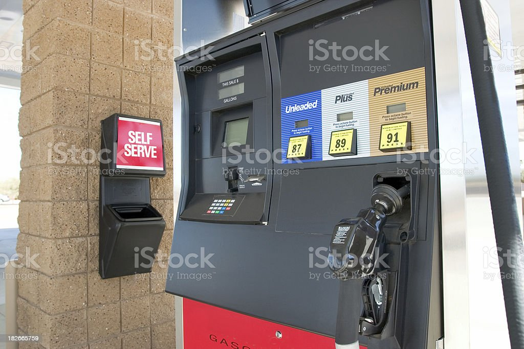 Gas Pump III royalty-free stock photo