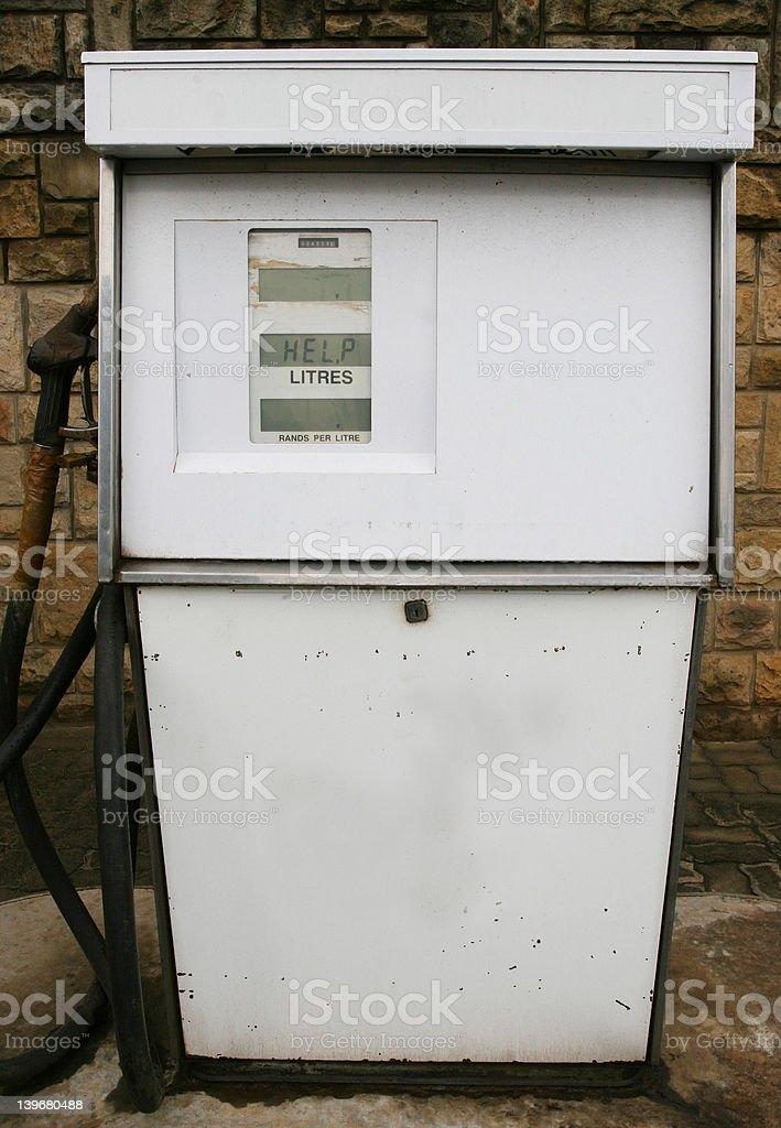Gas pump needing some help royalty-free stock photo