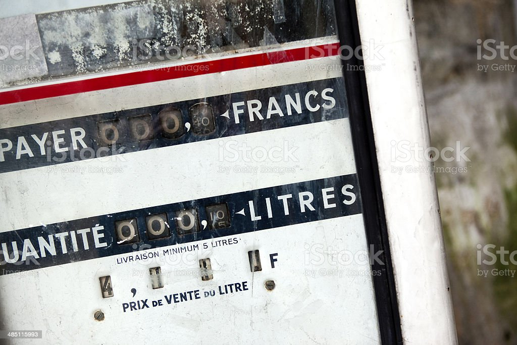 Gas pump royalty-free stock photo