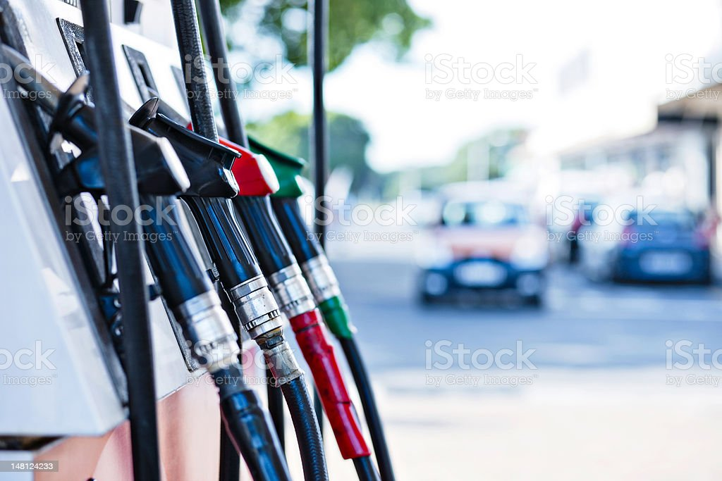 Gas pumps royalty-free stock photo
