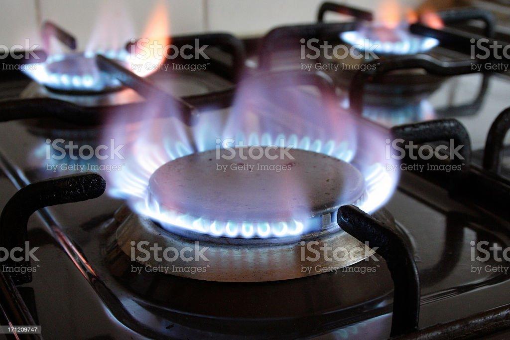 Gas ring burner stock photo