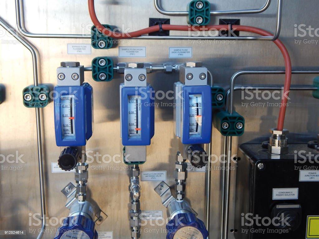 Gas sampler cabinet. stock photo