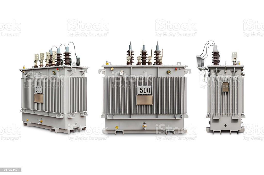 gas sealed transformer 500 kVA N2 stock photo