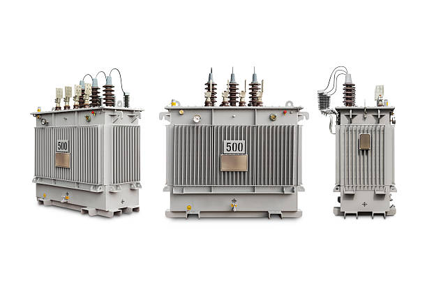 gas sealed transformer 500 kva n2 - hoogspanningstransformator stockfoto's en -beelden