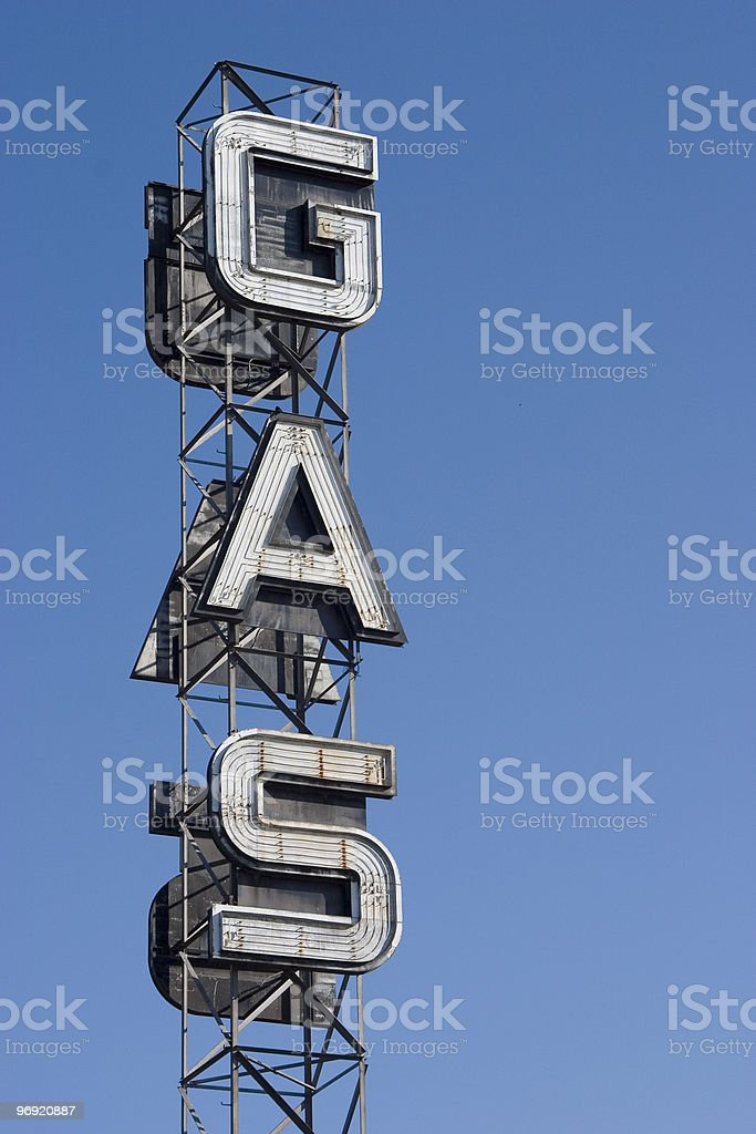 Gas Sign 1 royalty-free stock photo