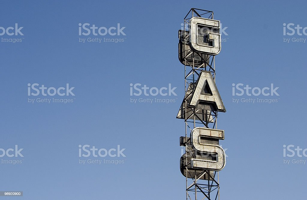 Gas Sign 4 royalty-free stock photo