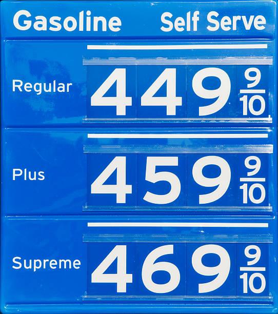 gas-schild mit hohen preise - mark tantrum stock-fotos und bilder