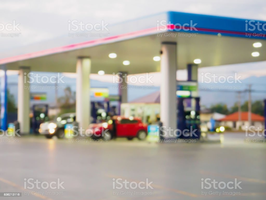gas station blur background royalty-free stock photo