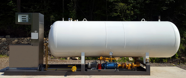 Gas Station Fuel Tank Stock Photo - Download Image Now ...