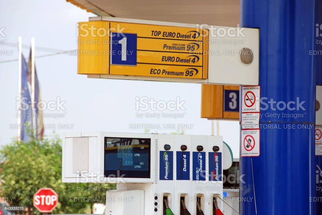 Gas station, Iasi, Romania stock photo