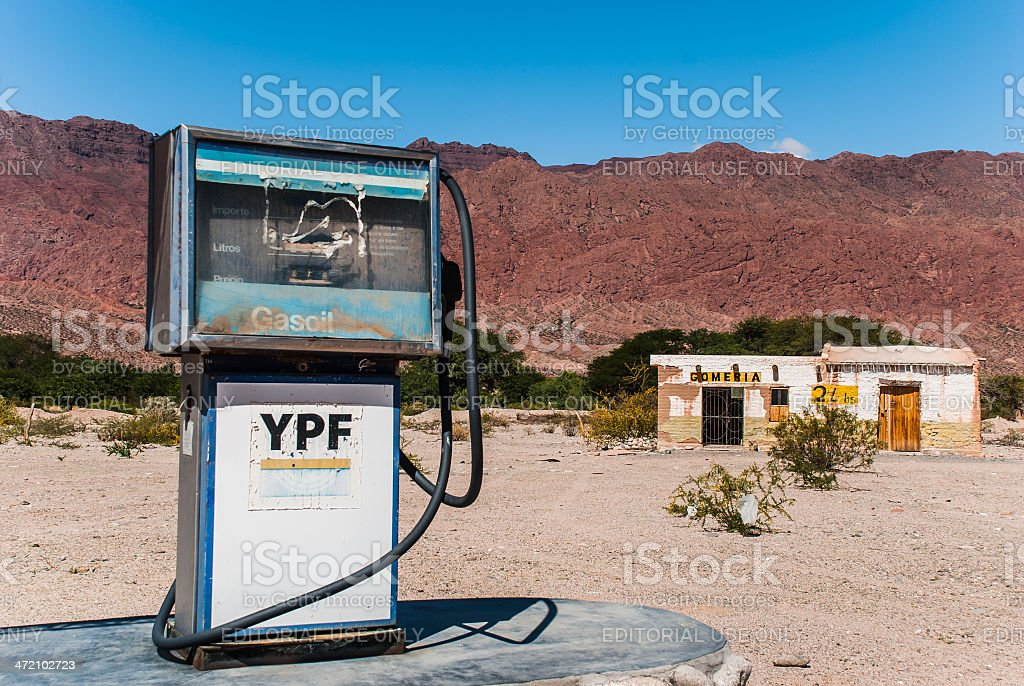 YPF Gas Station in the Salta's Province royalty-free stock photo