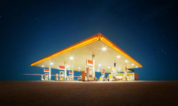 加油站 - 車站 個照片及圖片檔