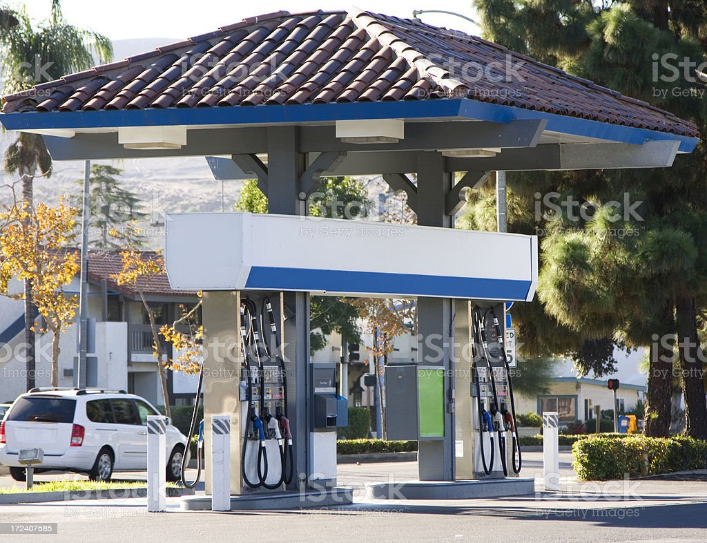 gas station royalty-free stock photo