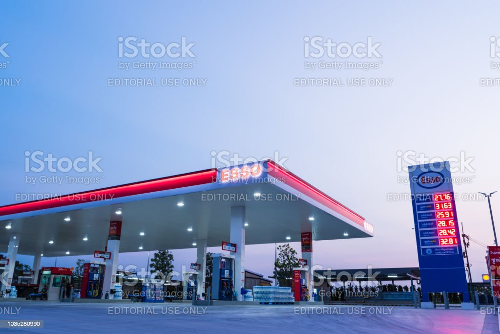 Diesel Gas Near Me >> Esso Gas Station With Blue Sky Background During Esso Gas