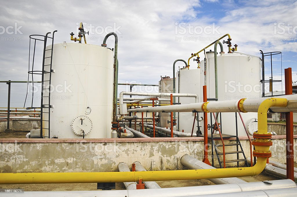 Gas storage and pipeline royalty-free stock photo