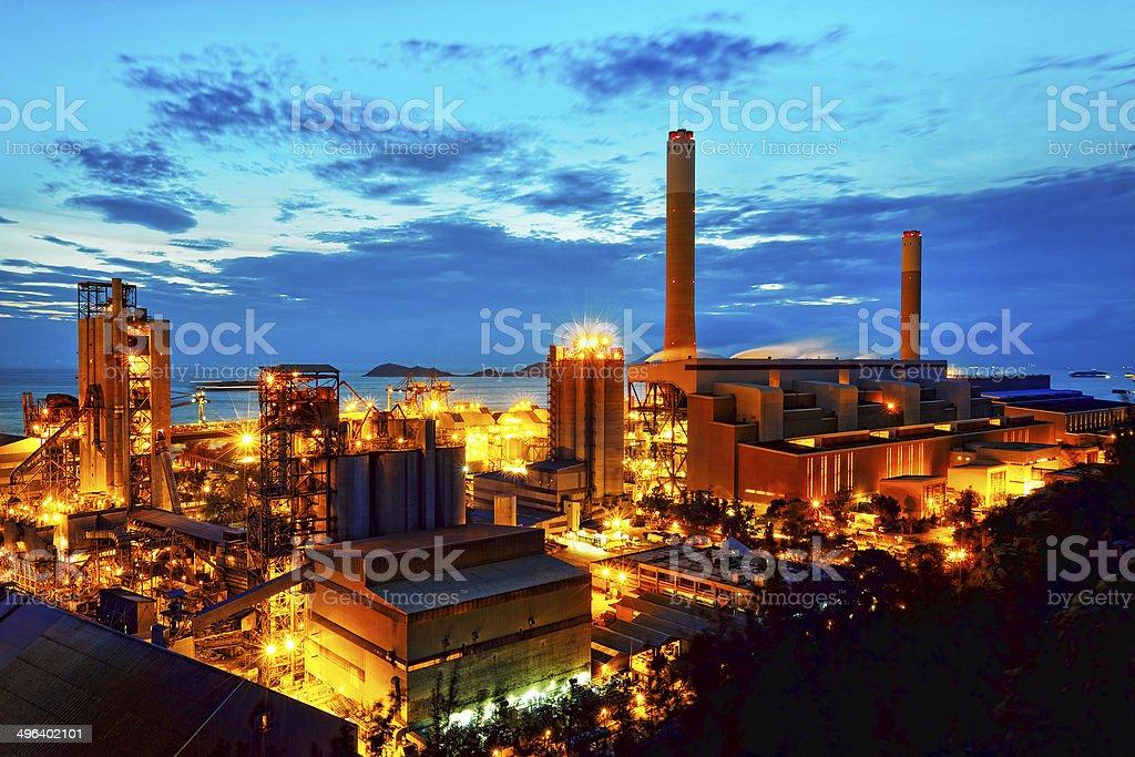 Gas Aufbewahrung Kugeln tank-Top in Petrochemische Fabrik Lizenzfreies stock-foto