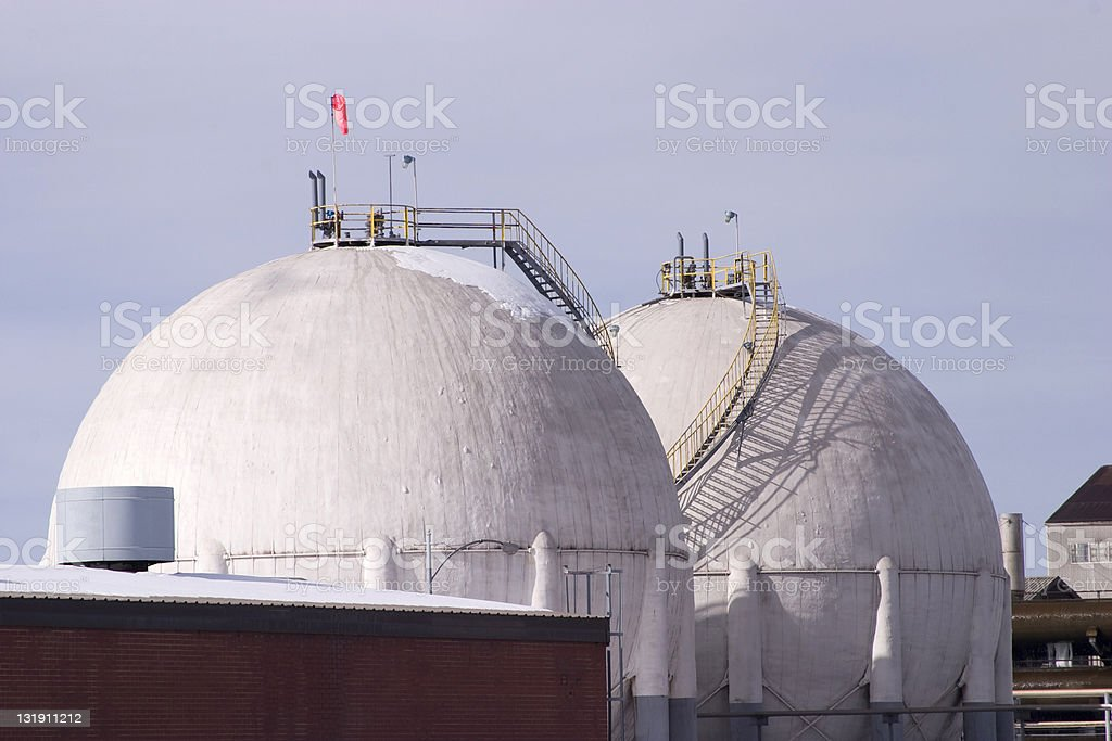 Gas storage tanks royalty-free stock photo