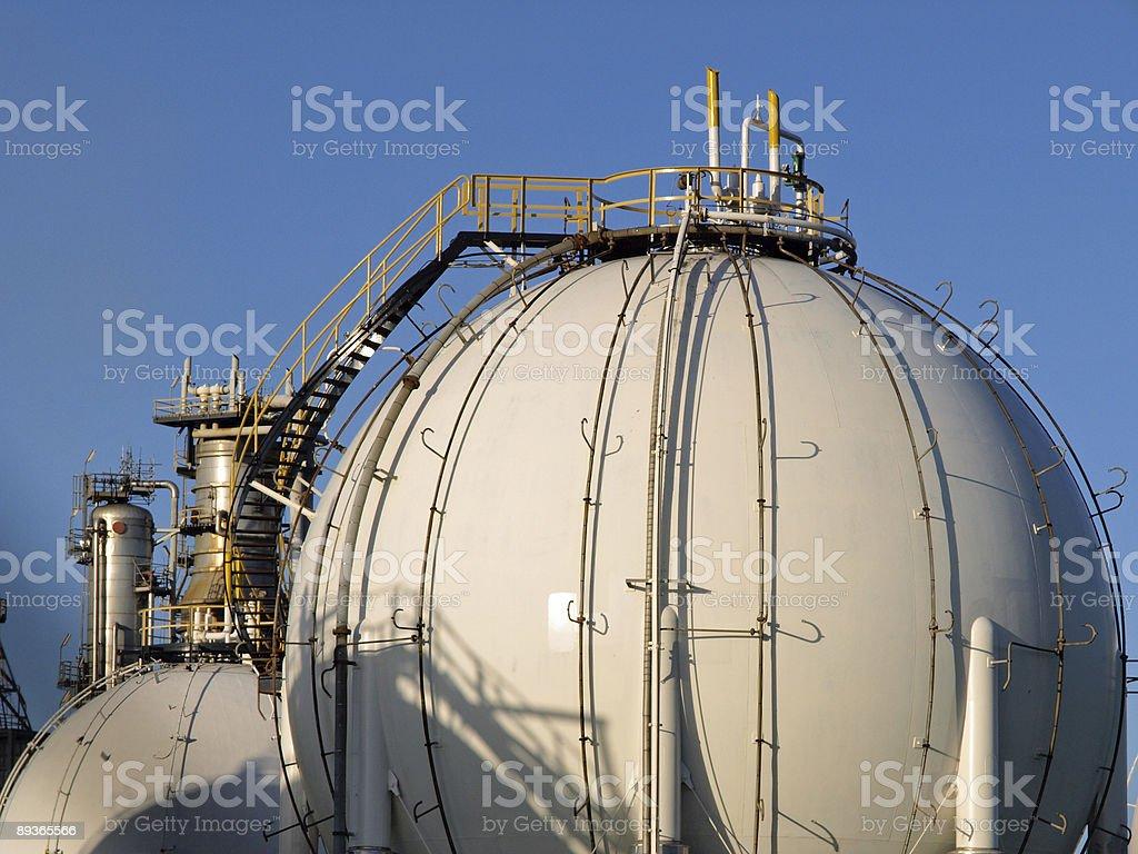 Serbatoi di Gas foto stock royalty-free