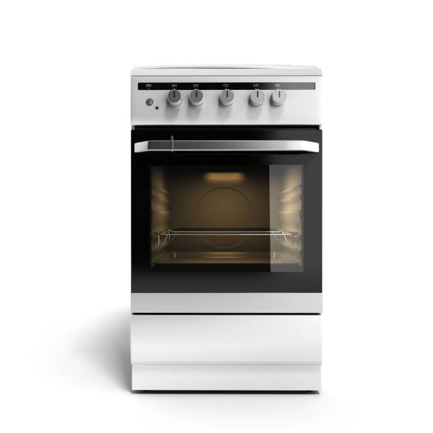 Gas stove 3d render isolated on a white background Gas stove 3d render isolated on a white background oven stock pictures, royalty-free photos & images