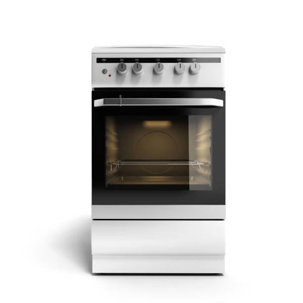 rendu 3d de gaz réchaud isolé sur fond blanc - cuisinière photos et images de collection