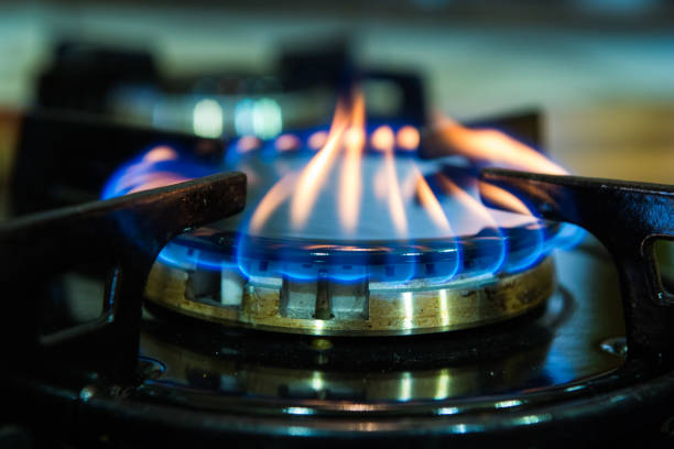 Gas stove burner. – Foto