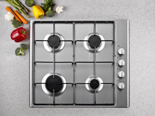 cuisinière à gaz  - cuisinière photos et images de collection