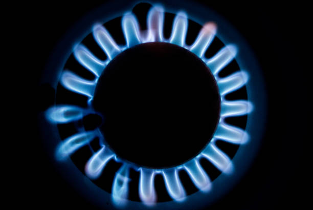 Gas Supply Flame - foto stock