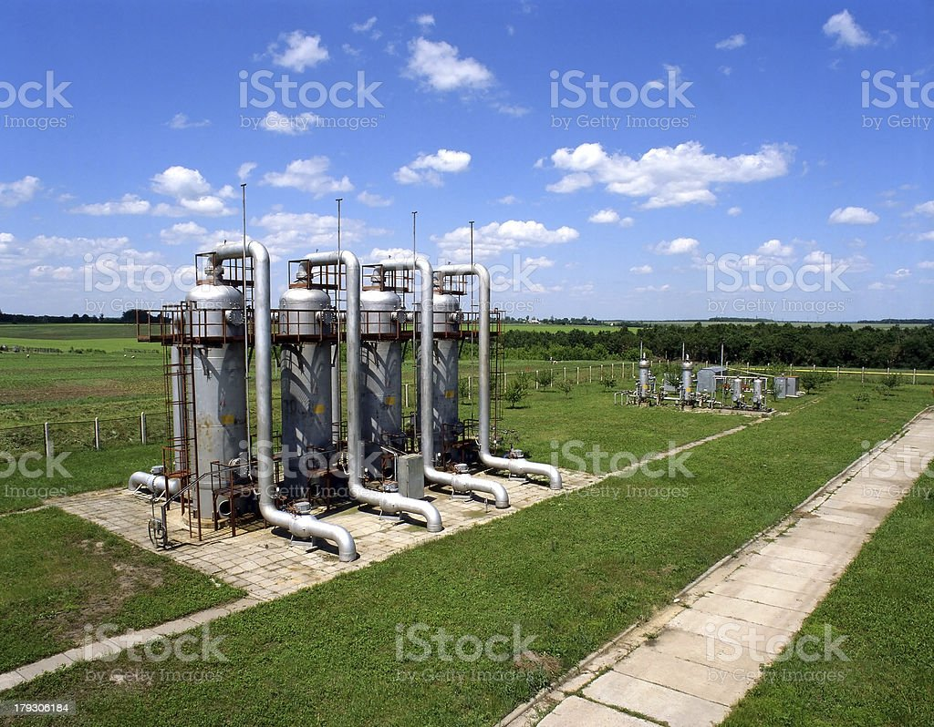 Gas supply royalty-free stock photo