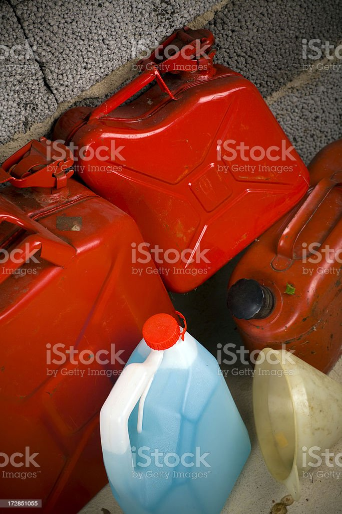 Gas tank details stock photo