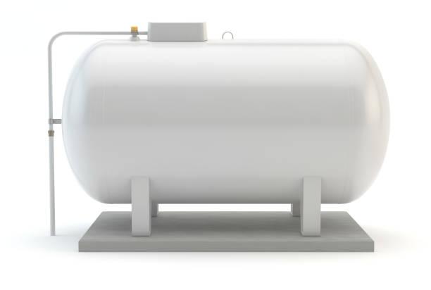 gastank isoliert auf weiß - benzintank stock-fotos und bilder